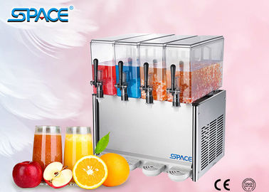 4 X12L Commercial Juice Dispenser Machine, Refrigerated Beverage Dispenser